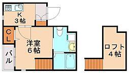 ラヴィータ箱崎[2階]の間取り