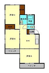 守木菊地アパート[2階]の間取り
