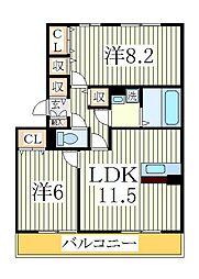 グランドゥール1[1階]の間取り