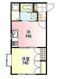 ガーデンハウスM[B-102号室]の間取り