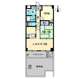 ルミナス I MIZUHO[1階]の間取り