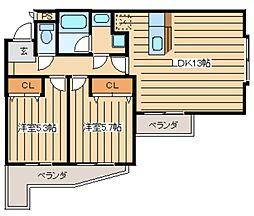 クラストガーデン[301号室]の間取り