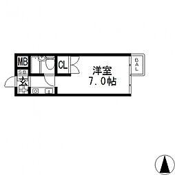 プリマベラカクノ[302号室号室]の間取り