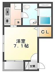 メゾン・ド・ヴィレ武庫川[1階]の間取り