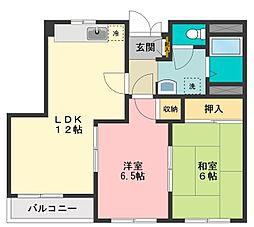 アピアII[2階]の間取り