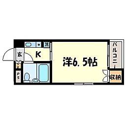 ハイム園田[2階]の間取り