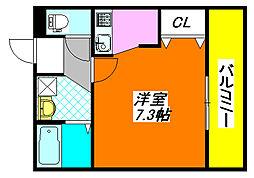カインド高井田 406号室[4階]の間取り