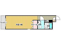 兵庫県神戸市灘区友田町2丁目の賃貸マンションの間取り
