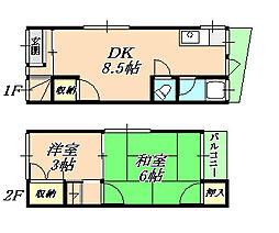 [テラスハウス] 兵庫県神戸市垂水区山手7丁目 の賃貸【/】の間取り