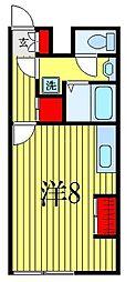 ATORAS MAKUHARI 3階ワンルームの間取り