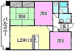 メゾンK−II[102 号室号室]の間取り