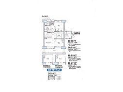 大阪府大阪市平野区喜連西3丁目の賃貸マンションの間取り