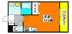 メルベーユ・高井田 102号室[1階]の間取り