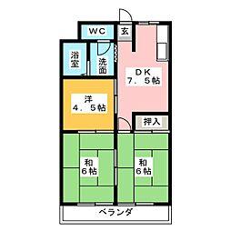 シンガイハイツ[3階]の間取り
