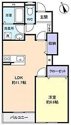 千葉県八千代市緑が丘西3丁目の賃貸アパートの間取り