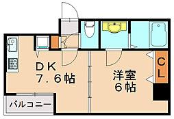 ステイツ天神東III[3階]の間取り