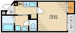 若葉ハウス[2階]の間取り