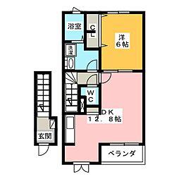 フォルシュIIA[2階]の間取り