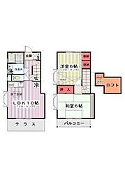 [テラスハウス] 神奈川県横浜市港北区大倉山2 の賃貸【/】の間取り