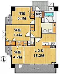 セリシール夙川苦楽園[6階]の間取り