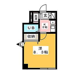 プロクシースクエア上野[1階]の間取り