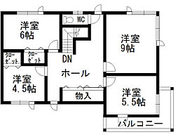 函館市女那川町 5LDKの居間