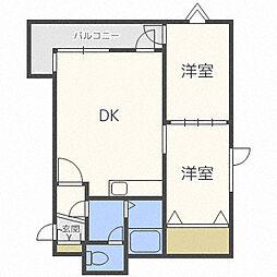プラザスズ札幌II[3階]の間取り