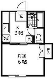 コーポトキワ[2階]の間取り