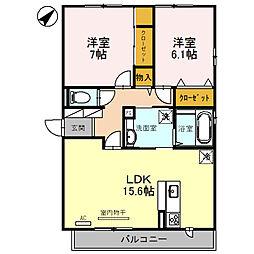 新築・都市ガスD−room栗東市目川[3階]の間取り