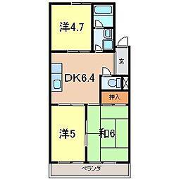 くまのマンション[302号室]の間取り