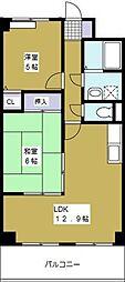 福本ハーバービュースクエア[7階]の間取り