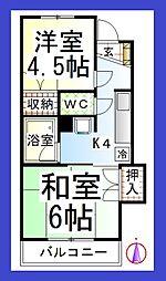 チャイルドシティC[3階]の間取り