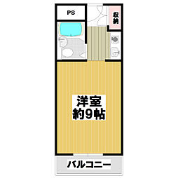 ピュアハイツナカザワ[3階]の間取り