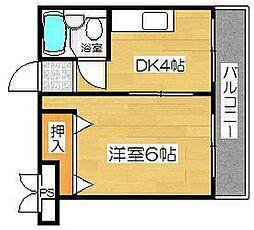 トータス茨木[203号室]の間取り