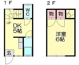 新屋敷荘[2階]の間取り