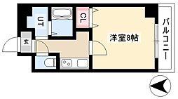 ザ・レジデンス杉栄 10階1Kの間取り