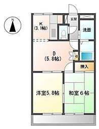 サンライズハヤシ[1階]の間取り