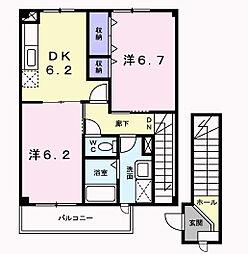 ニューシティ藤澤[2階]の間取り