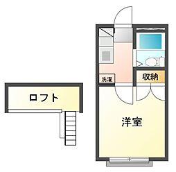 TCRE京成大久保[2階]の間取り