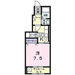 ソレイユ カヤノII[0101号室]の間取り