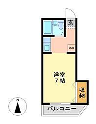 神奈川県川崎市宮前区鷺沼4丁目の賃貸マンションの間取り