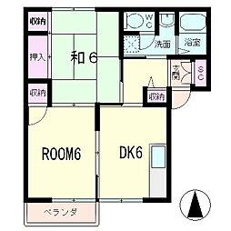 ルーラルシティーII A棟[2階]の間取り