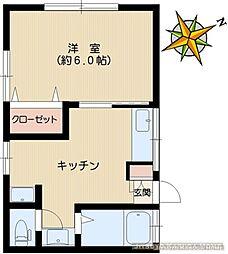 ハイツ亀崎[201号室]の間取り