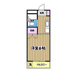 東京都青梅市河辺町8丁目の賃貸マンションの間取り