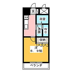 ファンタジアII[2階]の間取り