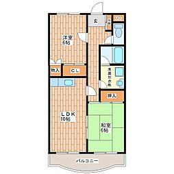 ローズガーデンCOMO[5階]の間取り