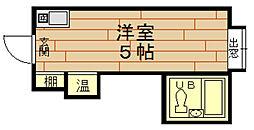 ラパンジール本田2[5階]の間取り