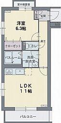カームスガーデン・ジオ[0104号室]の間取り
