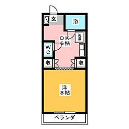清水第2マンション[2階]の間取り