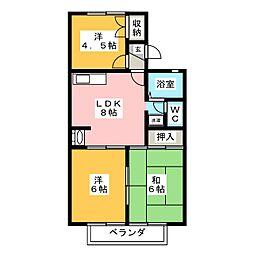 セジュール藤宮[2階]の間取り